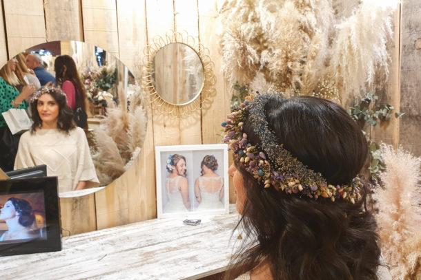 Tiara de novia con flores