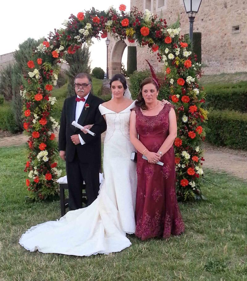 Arco flores bodas